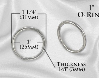 "50pcs - 1"" Metal O Rings Non Welded Nickel - Free Shipping (O-RING ORG-108)"