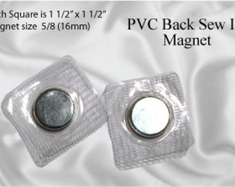 100pcs Hidden 17mm Sew In Magnetic Purse Snap / Closure (MAGNET SNAP MAG-146)