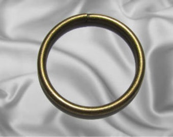 """30pcs - 1 1/2"""" Metal O Rings Non Welded Antique Brass - Free Shipping (O-RING ORG-128)"""