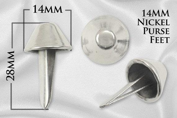 14mm Purse Feet Handbag Feet Bag Feet - Nickel 100pcs - Free Shipping (PURSE FEET PFT-118)