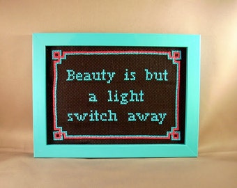 Beauty is but a light switch away