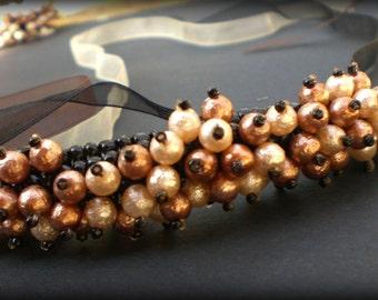 Beaded Necklace Unique Jewelry Autumn