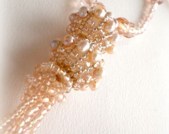 Pearly Necklace OOAK Made by Springcolors