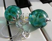 Tropical Ocean Sterling Silver Earrings, Sonata Opus 71