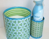 Upcycled Can Toilet Paper Holder with Air Freshener Caddy