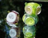 Three Pretty Handmade Glass Beads