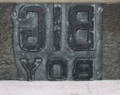 I Love a Big Boy...  Vintage Printer's Block