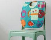 Ameoba Monster Handmade Bib - Oversize with Snaps