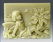 2D Silicone Soap Mold-Season fairy - Winter- free shipping - you are buying from original designer - say no to copycats