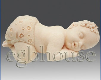 2D Silicone Guest Soap Mold - Welcome to our family -New Baby Girl