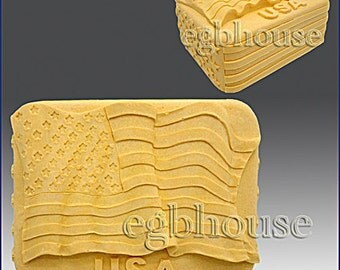 2D Silicone Soap Mold - The Flag of the United States - free shipping  Buy from original designer - Say no to copy cats