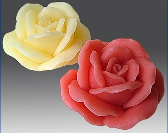 Silicone Soap and  candle Mold Blooming Rose - free shipping