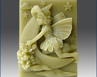 Silicone Soap Mold -- Luna- Fairy of the Moon - FREE SHIPPING