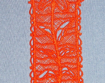 Lace Tiger Lily Apricot colored Bookmark
