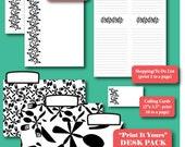 "Desk Pack-EDITABLE Printables in ""Floral Flatware"""