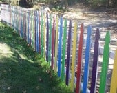 5x7 photo of rainbow fence