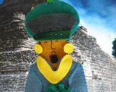 Ancient Mayan Time Traveler Felt Finger Puppet