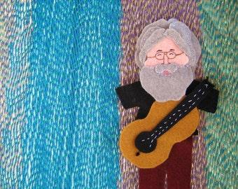 Jerry Garcia Jumbo Felt Finger Puppet with Guitar