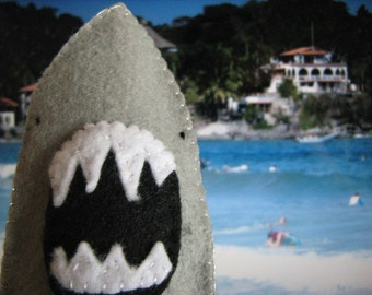 Great White Shark Felt Finger Puppet, Shark Week
