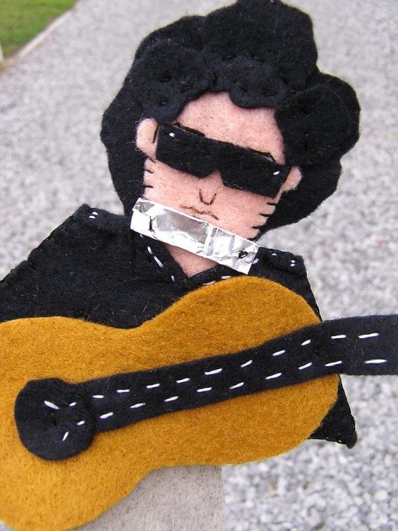 Bob Dylan Felt Finger Puppet