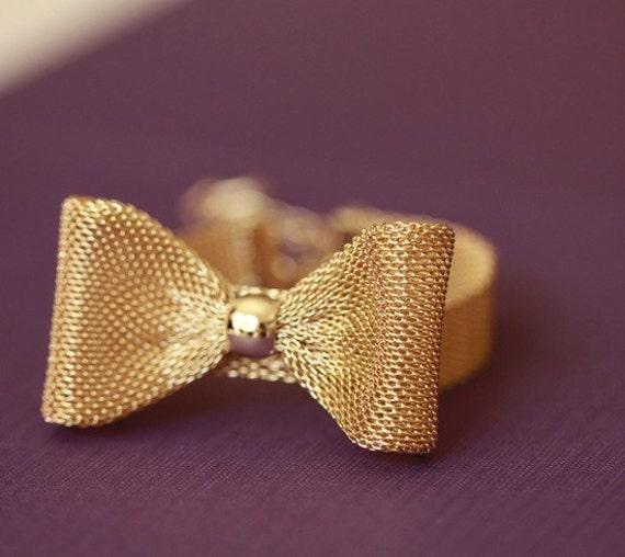gold ribbon bracelet