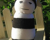 SALE Sock Buddy (bw stripe)