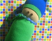 Sock Buddy (green and blue)