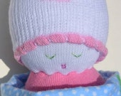 SALE It's a girl  sock doll set with receiving blanket