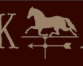 Folk Art With Horse Weathervane Primitive Stencil 7 mil Mylar Reusable