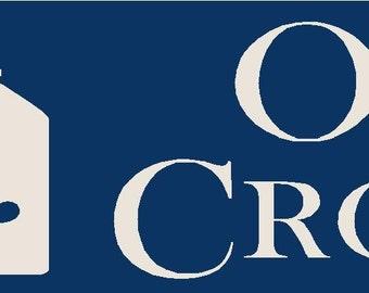 Old Crocks Reusable Stencil 7 mil Mylar