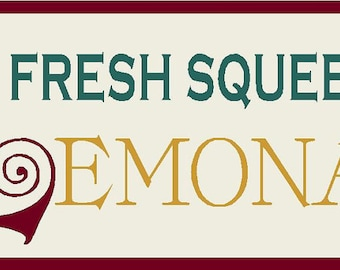 Fresh Squeezed Lemonade Stencil 7 mil  Mylar Reusable