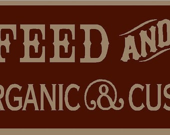 Feed And Grain Pig Hog  Stencil 7 mil  Mylar Reusable