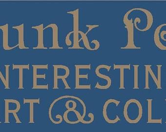 The Junk Peddler Stencil 7 mil  Mylar Reusable