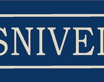 No Sniveling Stencil 7 mil Transparent Blue Mylar Reusable