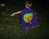 Custom made child's superhero cape reserved for Laura