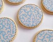 Filigree Cookies - One Dozen Orange Vanilla Spice Cookies