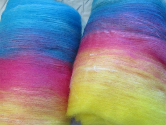 Homemade 4 ounce batt Rainbow