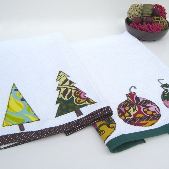 Trim the Tree Christmas Kitchen Towels