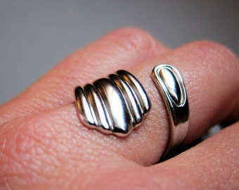 Spooning- Shiny Silver spoon ring
