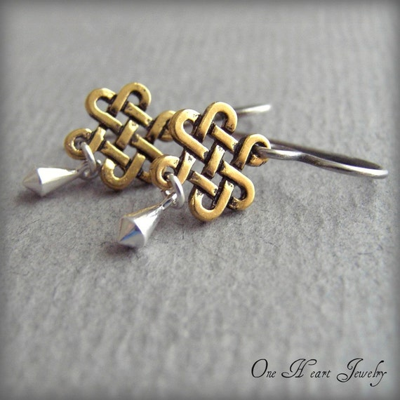 eternity knot earrings symbol with no ending