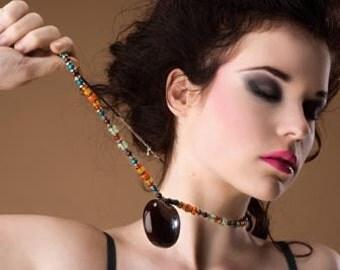 Sea Heart Sea Bean Necklace pendants