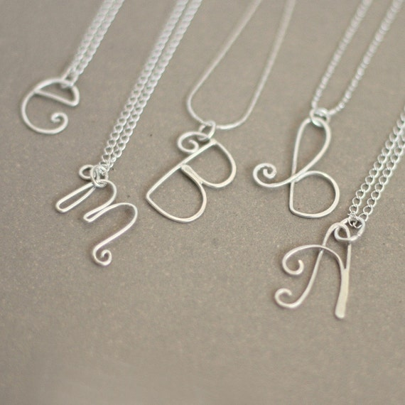 r e s e r v e d ....... for LAURAWALICKI. initial. letter. yours. sterling silver NECKLACE.