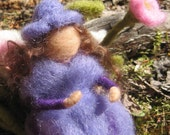 Fairy Admires the Last Summer Flowers - Waldorf Inspired - Needle Felted - Fairy Art