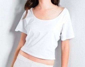 Womens Crop Top Cotton Shirt Made in USA
