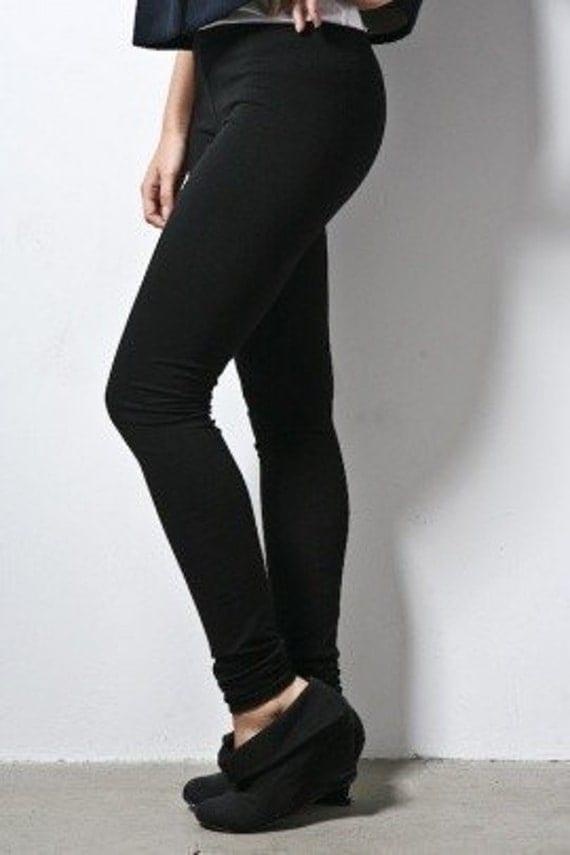 "Leggings Stretch Pants Full Length Premium Basic 31"" inseam Small"