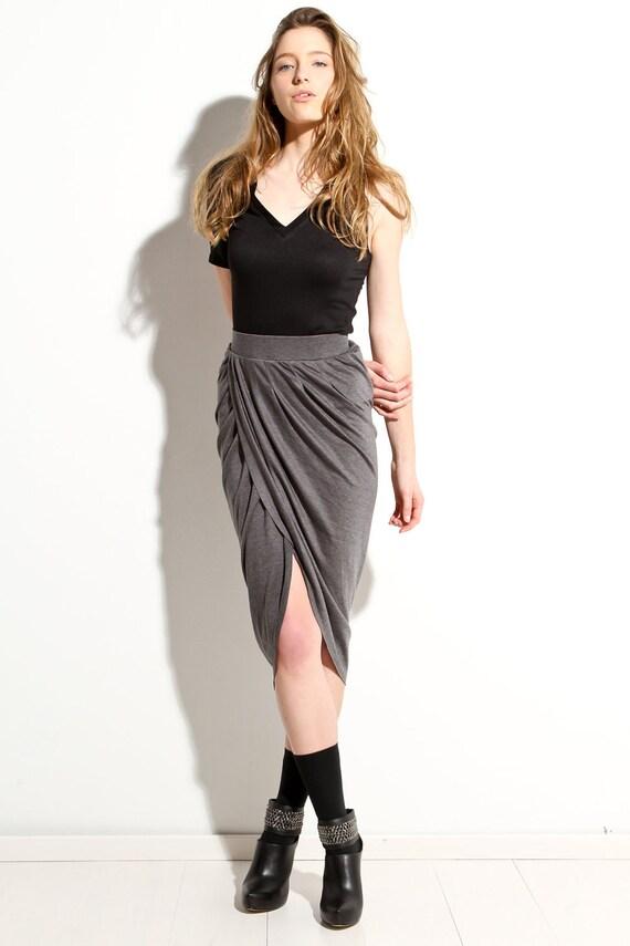 Intermix shift skirt grey