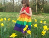 Rainbow Twirly Dress Sizes 8 10 12 and 14