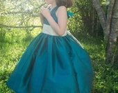 Silk Twirly Flowergirl Dress Any Color Size 2 3 4 5 and 6