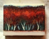 The Dark Wood - original painting - FREE SHIPPING