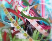 SALE 30percent off - MYSTERY 12 inches Ribbon pieces